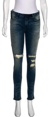 RtA Denim Distressed Mid-Rise Jeans w/ Tags