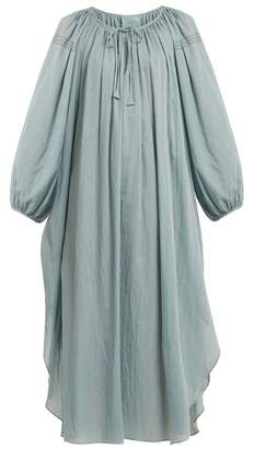 Loup Charmant - Peasant Jour echelle Trimmed Cotton Voile Dress - Womens - Blue