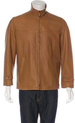 Ralph Lauren Purple Label Lambskin Zip-Accented Jacket