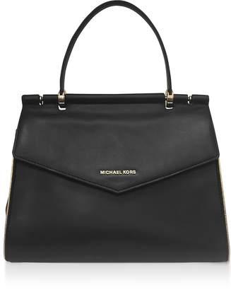 Michael Kors Black Jasmin Medium Top-Handle Satchel Bag