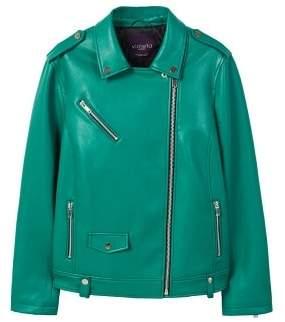 Violeta BY MANGO Faux leather jacket