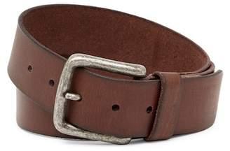 Frye Pebble Panel Burnished Leather Belt