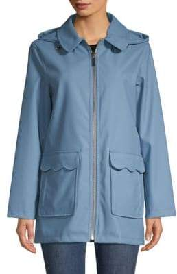 6e2fc8c1cdd1 Kate Spade Hooded Zipper Trench Coat