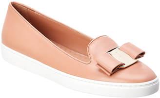 Salvatore Ferragamo Vara Leather Slip-On Sneaker