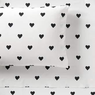 Pottery Barn Teen The Emily &amp Meritt Heart Sheet Set, Full