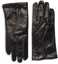 Portolano Leaves Leather Gloves