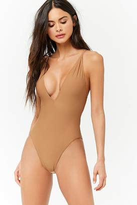 Forever 21 Crisscross Back One-Piece Swimsuit