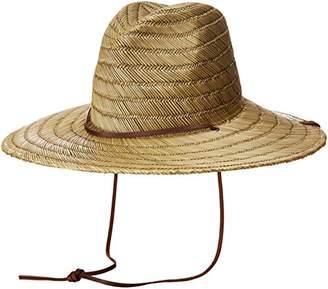 Brixton Men's Bells Extra Wide Brim Straw Fedora Hat