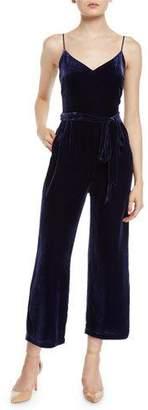 L'Agence Jaelyn Velvet Camisole Jumpsuit