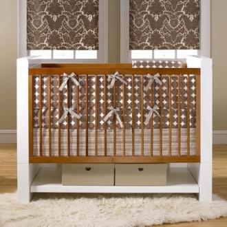 DwellStudio Baby Crib Bedding - Dots In Chocolate