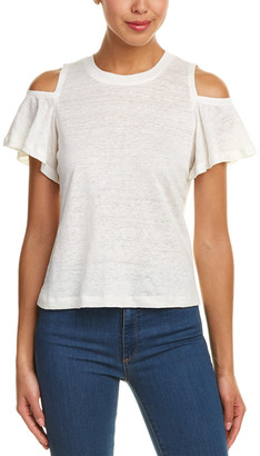 Rebecca Taylor Cold-Shoulder Linen Top