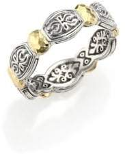 Konstantino Women's Aspasia 18K Yellow Gold& Sterling Silver Band Ring - Gold/Silver - Size 7