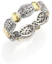 Konstantino Aspasia 18K Yellow Gold& Sterling Silver Band Ring