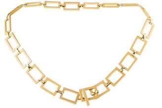 Versace Chain-Link Embossed Belt