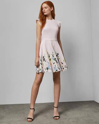 aca52699ed3f Ted Baker BRIDGT Elegant scallop skater dress
