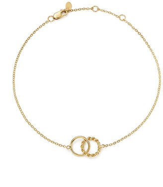 14K Yellow Gold Interlocking Circle Ankle Bracelet - 100% Exclusive $590 thestylecure.com