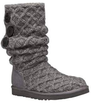 ... UGG Woven Wool Knit Tall Boots
