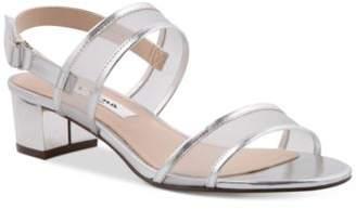 Nina Ganice Block-Heel Evening Sandals