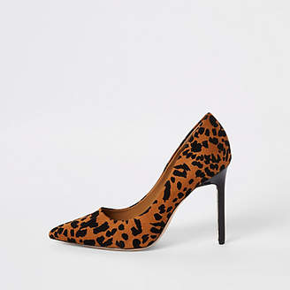 River Island Brown leopard print pumps