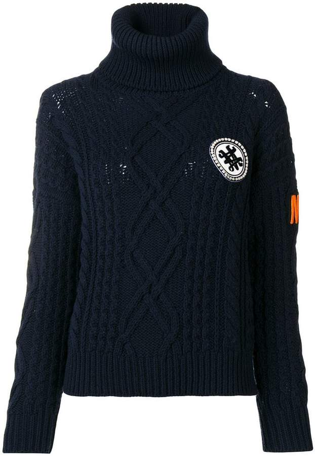 logo roll-neck sweater