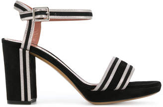 Bally contrast striped trim sandals