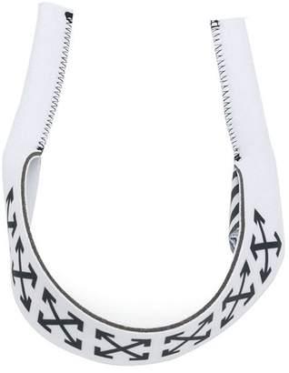 Off-White logo print cuff