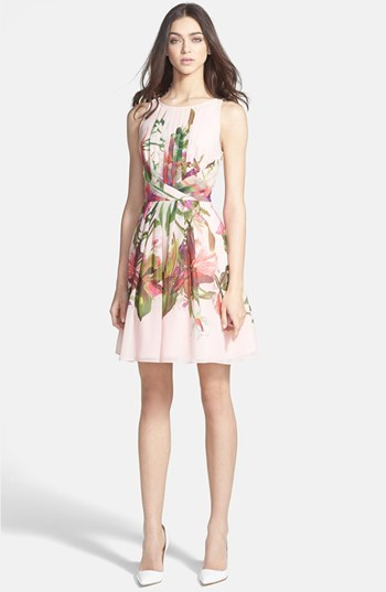 Ted Baker Print Fit & Flare Dress