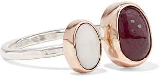 Melissa Joy Manning 14-karat Gold, Sterling Silver, Ruby And Opal Ring