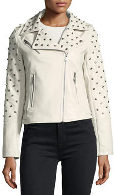 Glamorous Studded Faux-Leather Jacket