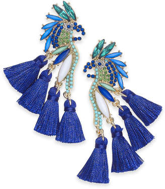 INC International Concepts I.N.C. Gold-Tone Mixed-Metal Blue Bird Stud Earrings, Created for Macy's