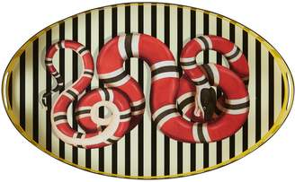 Gucci Kingsnake oval metal tray
