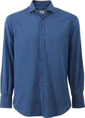 Brunello Cucinelli Spread Collar Denim Shirt
