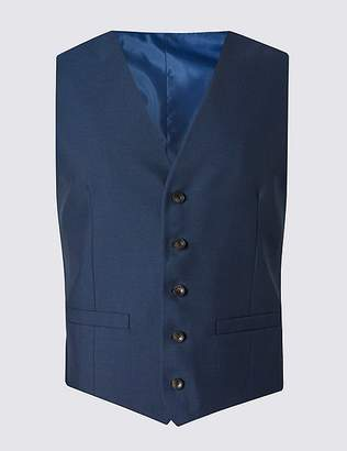 Marks and Spencer Indigo Tailored Fit Waistcoat