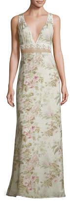 Majorelle Floral-Print Floor-Length Dress