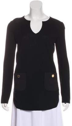 Tory Burch Wool Long Sleeve Sweater