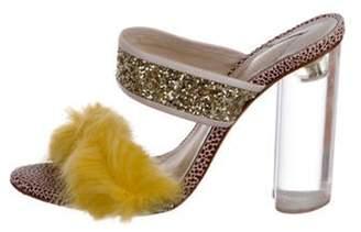 Sophia Webster x Shrimps Faux Fur Platform Sandals mauve x Shrimps Faux Fur Platform Sandals