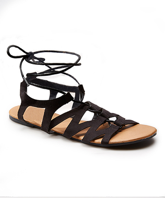 Black Lace-Up Sandal $19.95 thestylecure.com