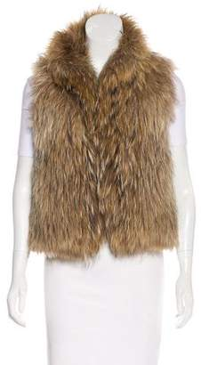 Yves Salomon Knitted Raccoon Vest