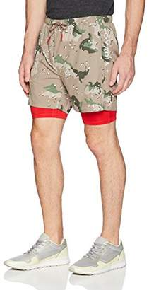 Ovadia++ Men's Stretch Nylon Training Shorts with Built in Compression