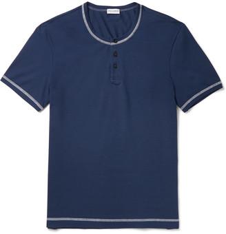 Dolce & Gabbana Stretch-Cotton Jersey Henley T-Shirt $145 thestylecure.com