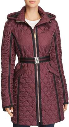 Hunter Refined Belted Quilt Trench Coat