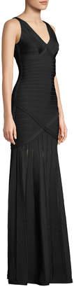 Herve Leger Nathalie Transparent Bandage Knit Gown