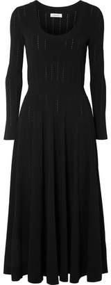 CASASOLA - Stretch-knit Midi Dress - Black