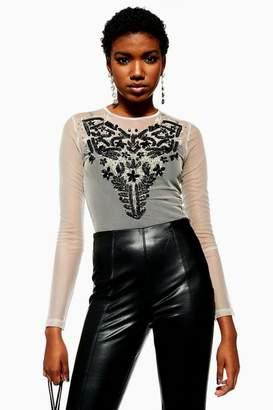 Topshop Womens Necklace Trim Bodysuit