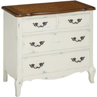 Home Styles The French Countryside Oak and Rubbed White Drawer Chest