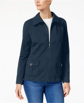 Karen Scott Petite Zip Jacket, Created for Macy's