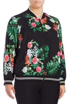 Vince Camuto Plus Floral Printed Rich Jacket