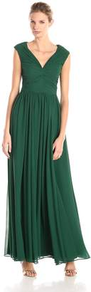 Vera Wang Women's V Neck Chiffon Dress