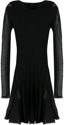 Philipp Plein long sleeved knit dress