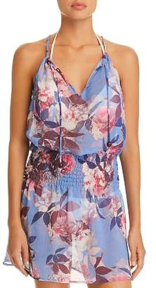 Becca by Rebecca Virtue Orchid Bloom Dress Swim Cover-Up